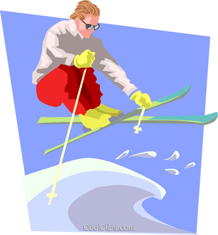 Freestyle skier Royalty Free Vector Clip Art illustration peop3691