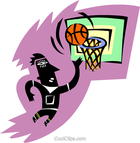 basketball player Royalty Free Vector Clip Art illustration peop3698