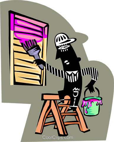 man painting vent Royalty Free Vector Clip Art illustration peop3715