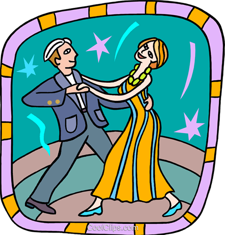 dancing couple Royalty Free Vector Clip Art illustration peop3732