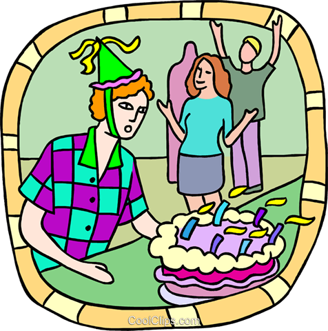Birthday party Royalty Free Vector Clip Art illustration peop3739