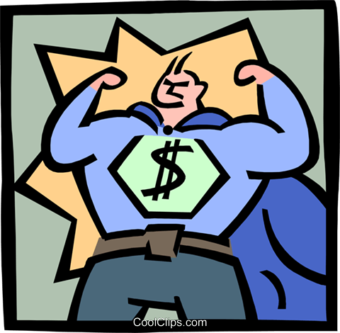 business superhero Royalty Free Vector Clip Art illustration peop3744