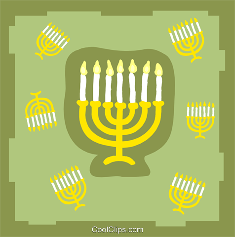 menorahs Royalty Free Vector Clip Art illustration spec0392