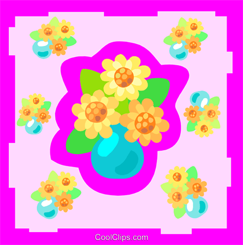 flowers Royalty Free Vector Clip Art illustration spec0394
