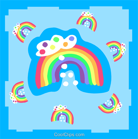 rainbows Royalty Free Vector Clip Art illustration spec0395