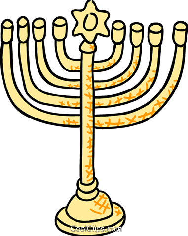 menorah Royalty Free Vector Clip Art illustration spec0399
