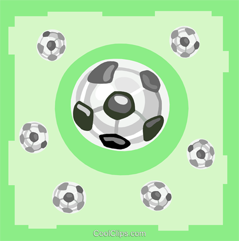 soccer balls Royalty Free Vector Clip Art illustration spor0410