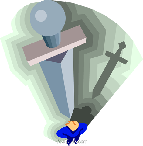 sword Royalty Free Vector Clip Art illustration symb0140