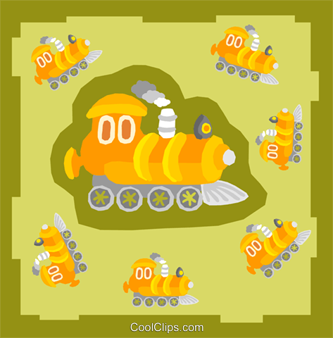 trains Royalty Free Vector Clip Art illustration tran0986