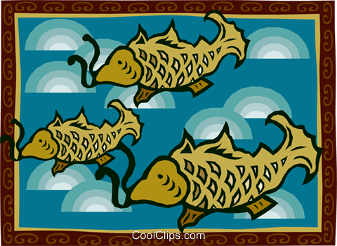 fish Royalty Free Vector Clip Art illustration anim2150