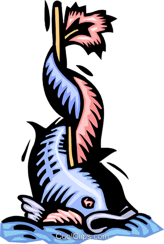 fish Royalty Free Vector Clip Art illustration anim2154