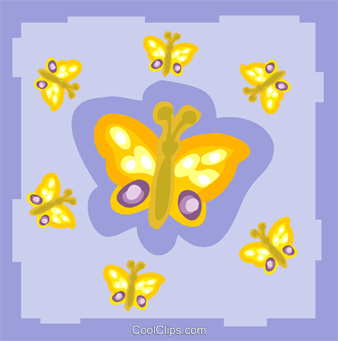 butterfly Royalty Free Vector Clip Art illustration anim2155
