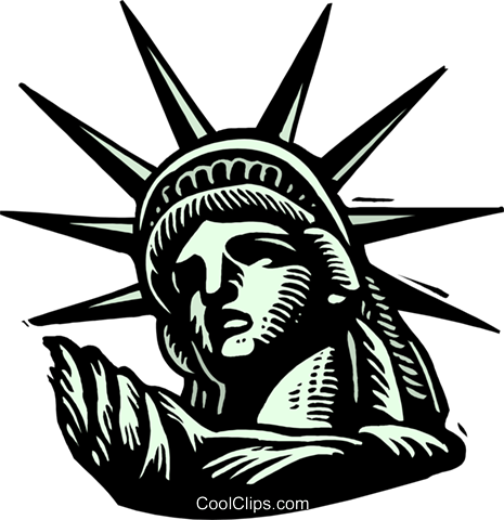 Statue of Liberty Royalty Free Vector Clip Art illustration arch0522