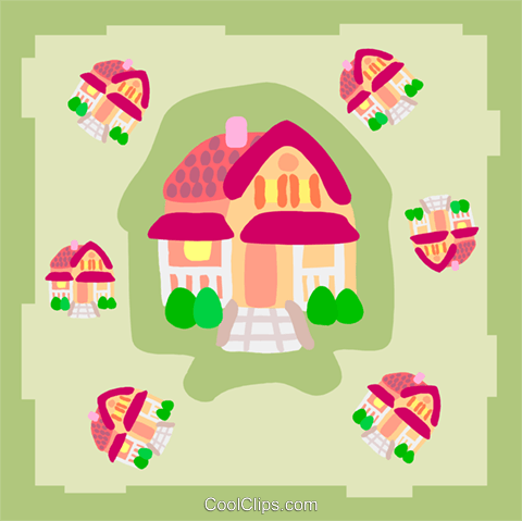 house Royalty Free Vector Clip Art illustration arch0523
