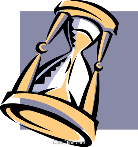 hourglass Royalty Free Vector Clip Art illustration busi1676