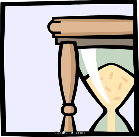 hourglass Royalty Free Vector Clip Art illustration busi1678