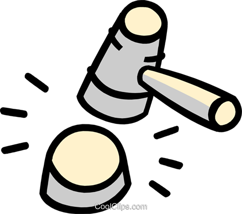 judge's hammer Royalty Free Vector Clip Art illustration busi1688