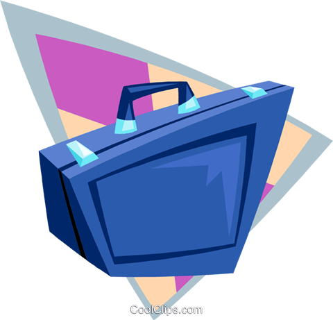 briefcase business briefcase Royalty Free Vector Clip Art illustration busi1695