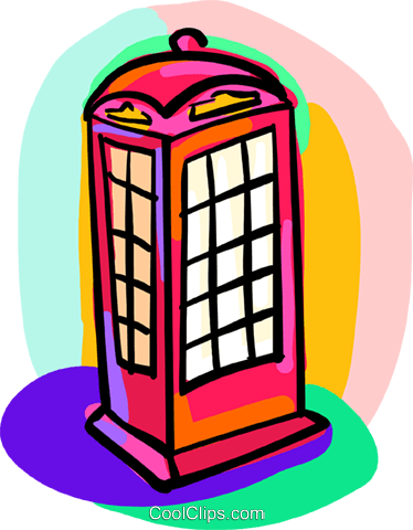 telephone booth Royalty Free Vector Clip Art illustration busi1701