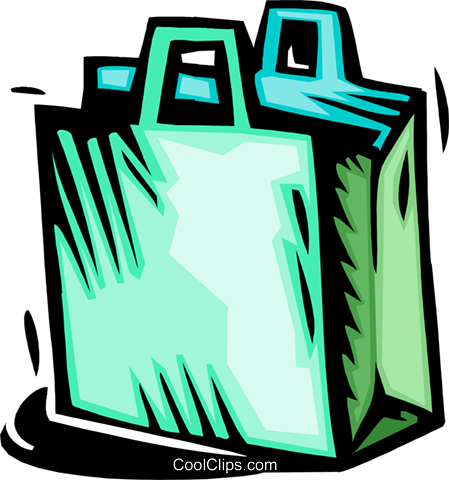shopping bag Royalty Free Vector Clip Art illustration busi1702