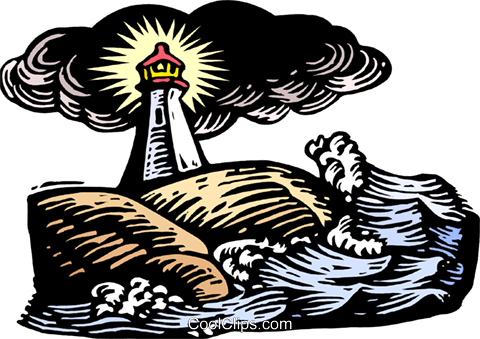 lighthouse Royalty Free Vector Clip Art illustration natu0975