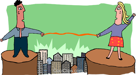business bridging the gap Royalty Free Vector Clip Art illustration peop3765
