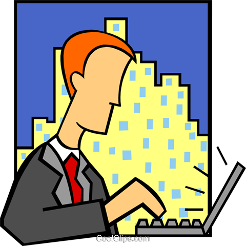business laptop user Royalty Free Vector Clip Art illustration peop3776