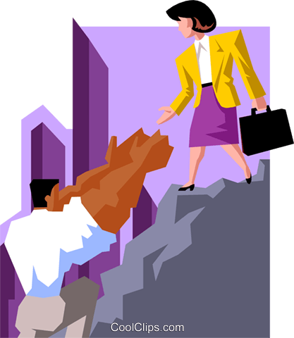 business helping hand Royalty Free Vector Clip Art illustration peop3783