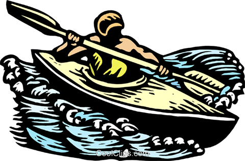 kayaking Royalty Free Vector Clip Art illustration spor0418