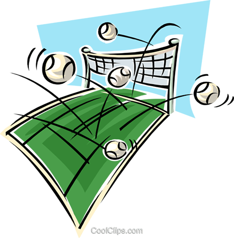 Chaotic volleyballs Royalty Free Vector Clip Art illustration spor0425