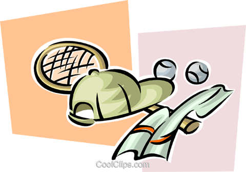 tennis equipment Royalty Free Vector Clip Art illustration spor0428