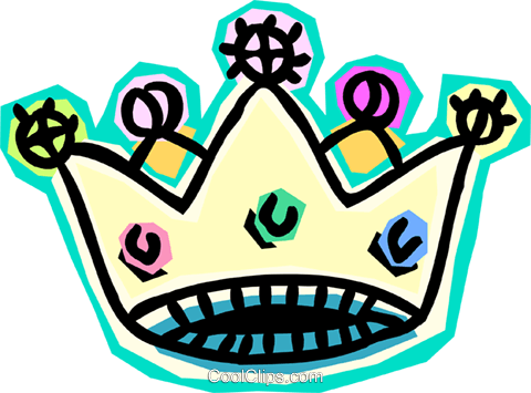 crown Royalty Free Vector Clip Art illustration symb0147