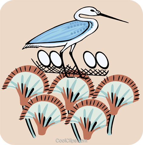 heron Royalty Free Vector Clip Art illustration anim2169