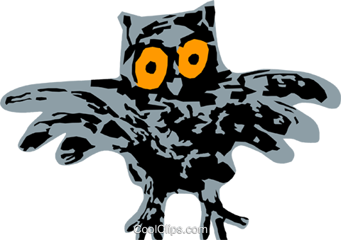 owl Royalty Free Vector Clip Art illustration anim2174