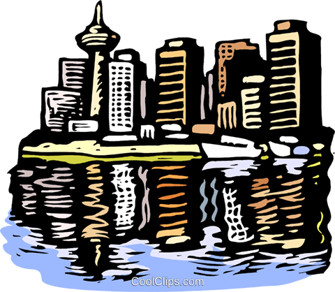 city scape Royalty Free Vector Clip Art illustration arch0529