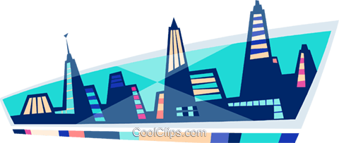 city scape Royalty Free Vector Clip Art illustration arch0530