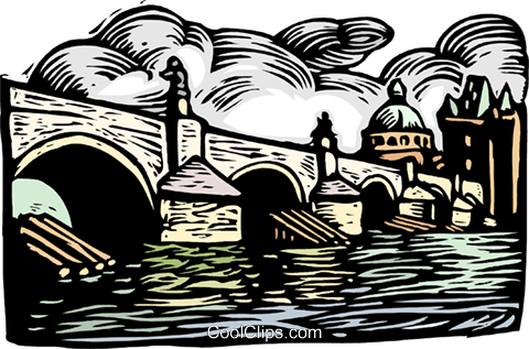 woodcut European architecture Royalty Free Vector Clip Art illustration arch0531