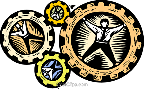 business / cogs in the wheel Royalty Free Vector Clip Art illustration busi1720