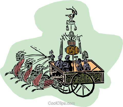 roman chariots Royalty Free Vector Clip Art illustration divi0142