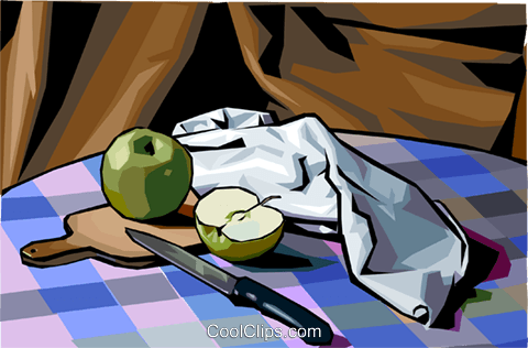 food and dining/apple Royalty Free Vector Clip Art illustration food1204