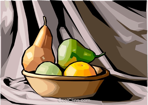 Food and dining/basket of fruit Royalty Free Vector Clip Art illustration food1206