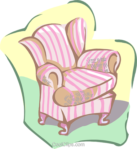 arm chair Royalty Free Vector Clip Art illustration hous1392