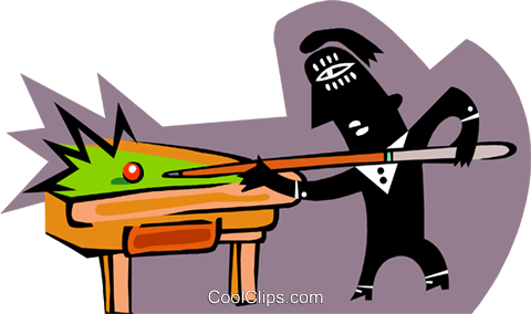 Person playing pool Royalty Free Vector Clip Art illustration peop3803