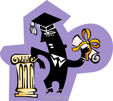 graduate Royalty Free Vector Clip Art illustration peop3808