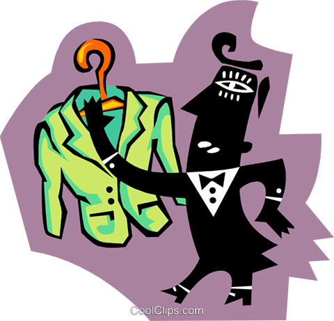 man with suit Royalty Free Vector Clip Art illustration peop3809