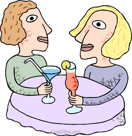 women having drinks Royalty Free Vector Clip Art illustration peop3814