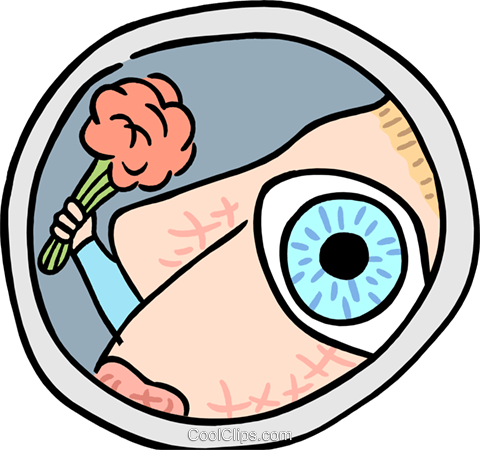 peephole view Royalty Free Vector Clip Art illustration peop3816