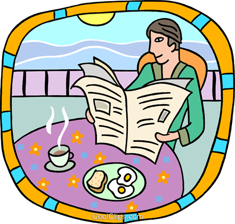 breakfast by the shore Royalty Free Vector Clip Art illustration peop3831