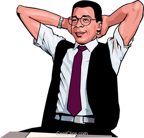 business man relaxing Royalty Free Vector Clip Art illustration peop3853