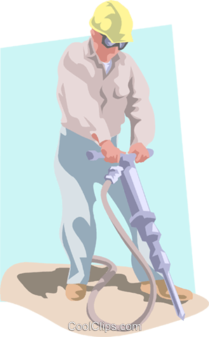 Construction worker Royalty Free Vector Clip Art illustration peop3855